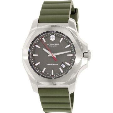 Swiss Army Men's I.N.O.X. 241683.1 Green Rubber Swiss Quartz Watch