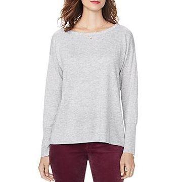 Nydj Button-Back Boatneck Sweater