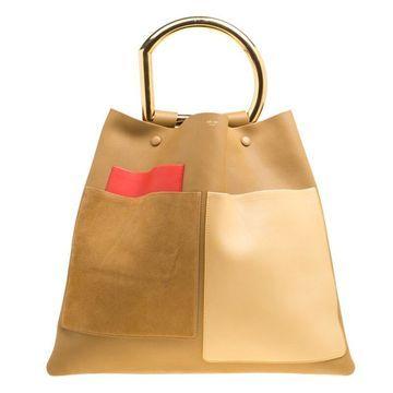 Celine Multicolour Leather Geometric Bag