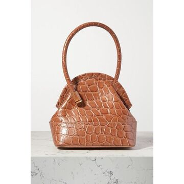 Louise Et Cie - Isel Croc-effect Leather Tote - Light brown