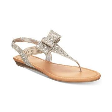 Material Girl Womens Shayleen Open Toe Casual T-Strap Sandals