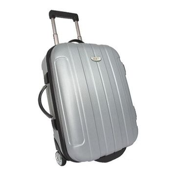 Traveler's Choice Rome 20in Hard Shell Carry On Upright Silver