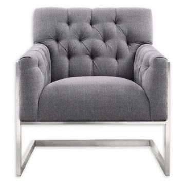 Armen Living Emily Chair in Grey