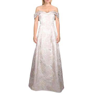 Aidan Mattox Womens Formal Dress Off-The-Shoulder Floral - Blush