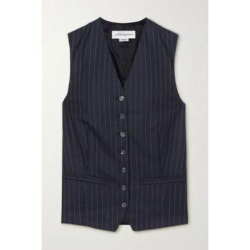 Victoria Beckham - Pinstriped Wool-twill Vest - Navy