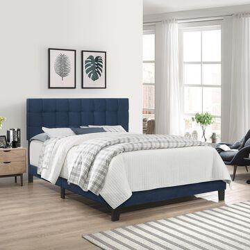 Hillsdale Furniture Delaney Upholstered Full Bed, Blue Velvet