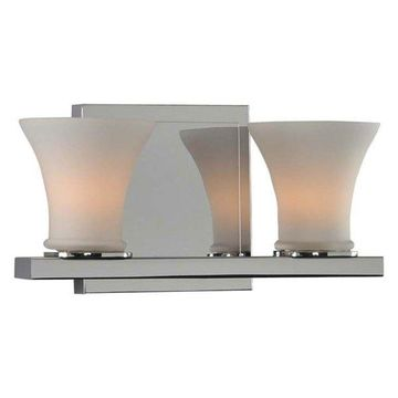 Kalco Morro Bay 2 Light Bath Vanity Bar, Chrome