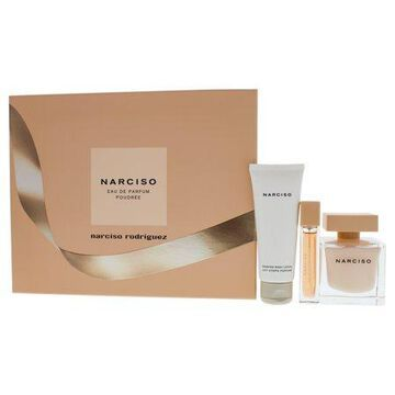 Narciso Poudree by Narciso Rodriguez for Women - 3 Pc Gift Set 3oz EDP Spray, 0.33oz EDP Spray, 2.5oz Scented Body Lotion