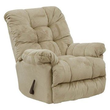 Chaise Rocker Recliner in Doe