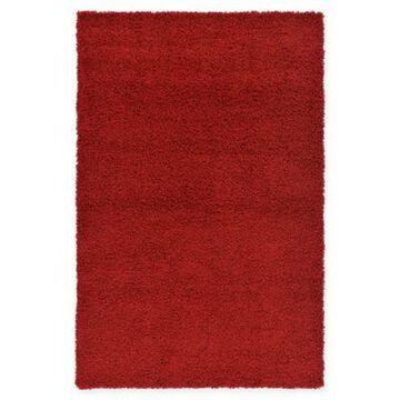 Unique Loom Solid Shag Powerloomed 5' x 8' Area Rug in Cherry Red