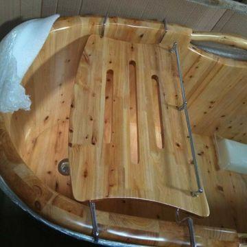 ALFI brand AB5512 Wooden Over The Tub Portable Caddy Bathroom Accessory NEW