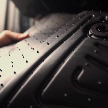 Husky Liner Series Front Floor Liner for Nissan Titan Crew Cab (2 Pack)