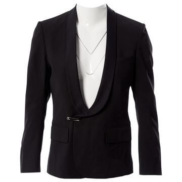 Balmain Black Wool Jackets