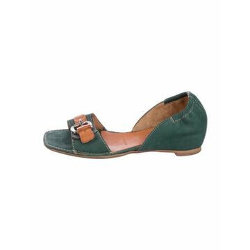 Suede Sandals Green