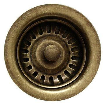Whitehaus RNW35-WB 3 1/2'' Fireclay Sink Brass Strainer In Weathered Bronze