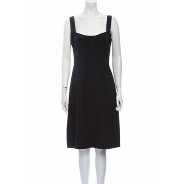 Wool Knee-Length Dress Wool