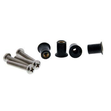 SCOTTY 133-100 WELL NUT MOUNTING KIT 100 PACK