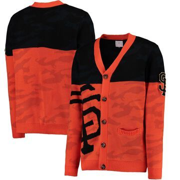 San Francisco Giants Camouflage Cardigan Sweater - Orange