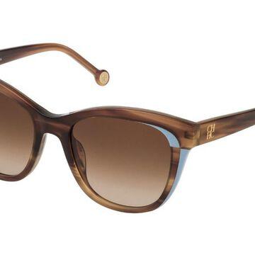 Carolina Herrera SHE787 06YZ Womenas Sunglasses Brown Size 52