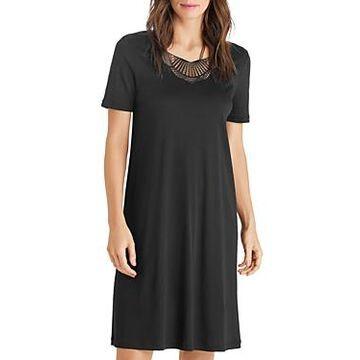 Hanro Adina Short-Sleeve Gown