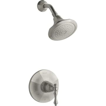 KOHLER Kelston Vibrant Brushed Nickel 1-Handle Shower Faucet (Valve Not Included) | TS13493-4-BN