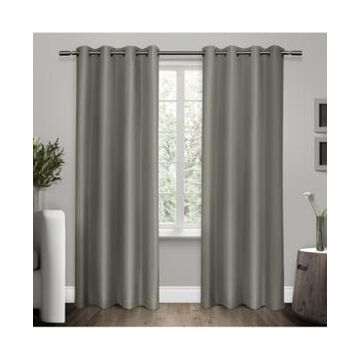 Exclusive Home Shantung Woven Blackout Grommet Top Curtain Panel Pair