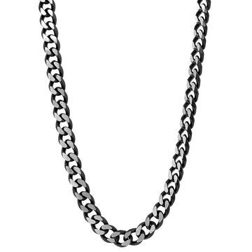 """Men's LYNX Stainless Steel Curb Chain Necklace, Size: 20"""", Black"""