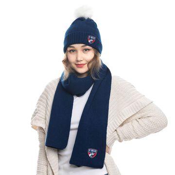 FC Dallas ZooZatz Fuzzy Cuffed Pom Knit Hat and Scarf Set