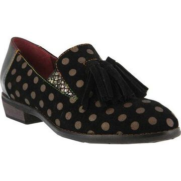 L'Artiste by Spring Step Women's Klasik Loafer Black Suede