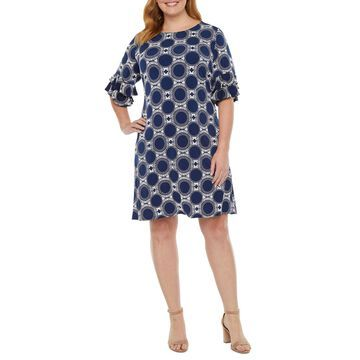 Ronni Nicole-Plus Short Sleeve Shift Dress