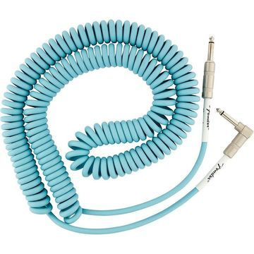Fender Original Series Straight to Angle Coiled Cable 30 ft. Daphne Blue