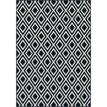 Orian Rugs Farmhouse Indoor/Outdoor Trellis Catalina Blue Rug - 7'9