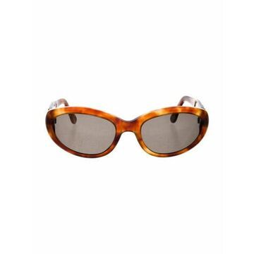 Round Tinted Sunglasses Brown