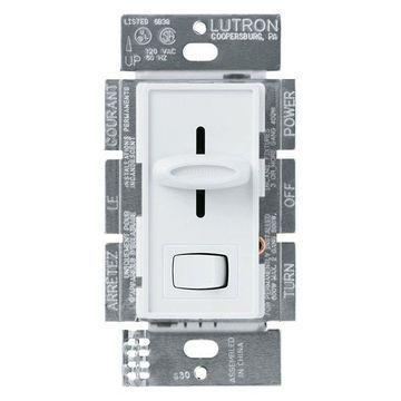 Lutron White Skylark Dimmer with Preset Switch