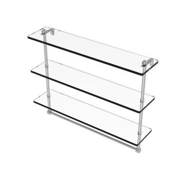Allied Brass Satin Nickel Brass Bathroom Shelf