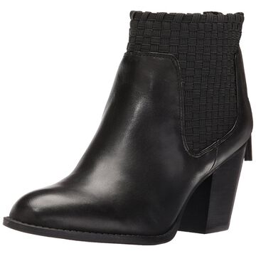 Jessica Simpson Womens Yeni Leather Round Toe Ankle Fashion Boots
