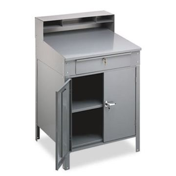 ''Tennsco SR-58MG Steel Cabinet Shop Desk, 36w X 30d X 53-3/4h, Medium (sr58mg)''