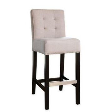 Abbyson Living Masimo Linen Bar Stool in Beige