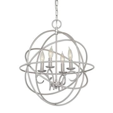 Kichler Vivian 4-Light Brushed Nickel Modern/Contemporary Cage Chandelier | 34713