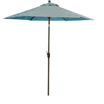 Hanover Traditions Blue 9 Ft. Table Umbrella