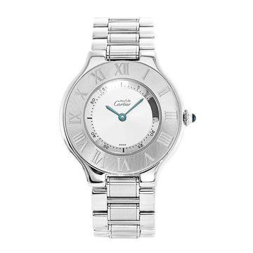 Cartier Unisex W10110T2 'Must 21' Stainless Steel Watch