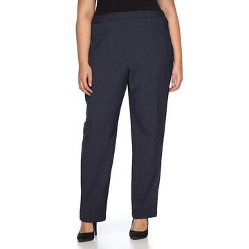 Plus Size Briggs Pull-On Straight-Leg Pants