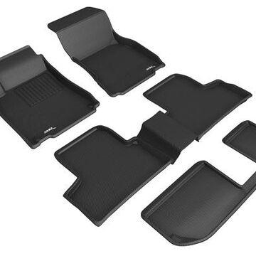 3D Maxpider Kagu Floor Mats, Floor Mat Set - KAGU Floor Mat - Front, Rear and Third Row - PN L1MB13101509 in Black