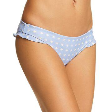 For Love & Lemons Womens Heart Throb Printed Ruffled Swim Bottom Separates