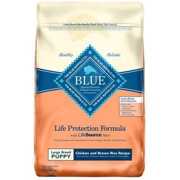Blue Buffalo Chicken and Brown Rice Recipe Large Breed Puppies Food, 30-lb