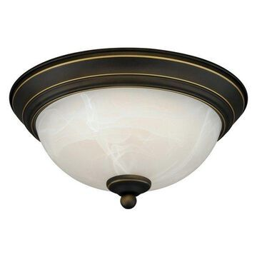 Vaxcel Lighting C0075 Builder 1 Light Flush Mount Indoor Ceiling Light