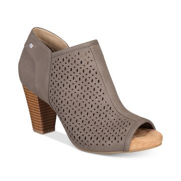 Angye Memory Foam Perforated Peep-Toe Shooties, Created for Macy's