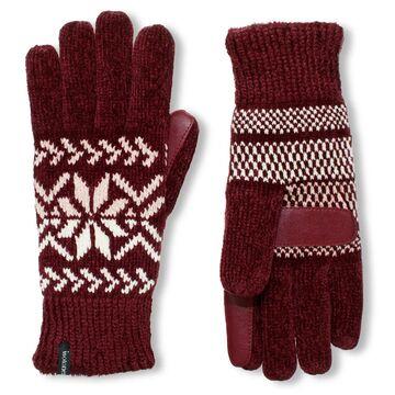 Women's isotoner Lined Chenille Snowflake Gloves