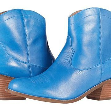 Seychelles Mysterious (Blue Leather) Women's Boots