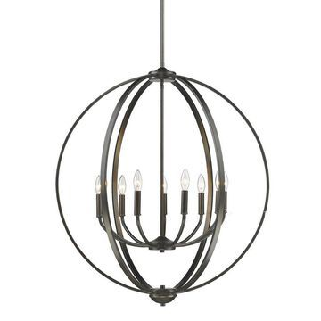 Golden Lighting Colson 9-Light Etruscan Bronze Modern/Contemporary Chandelier